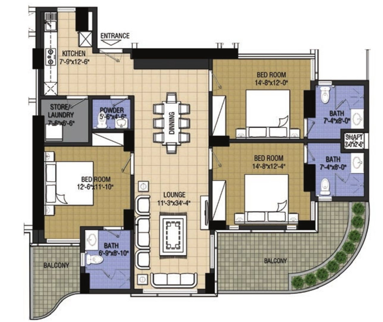 Highlife1-3 bed-Type A