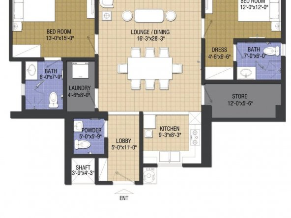 chic-1-2-bed-type-B