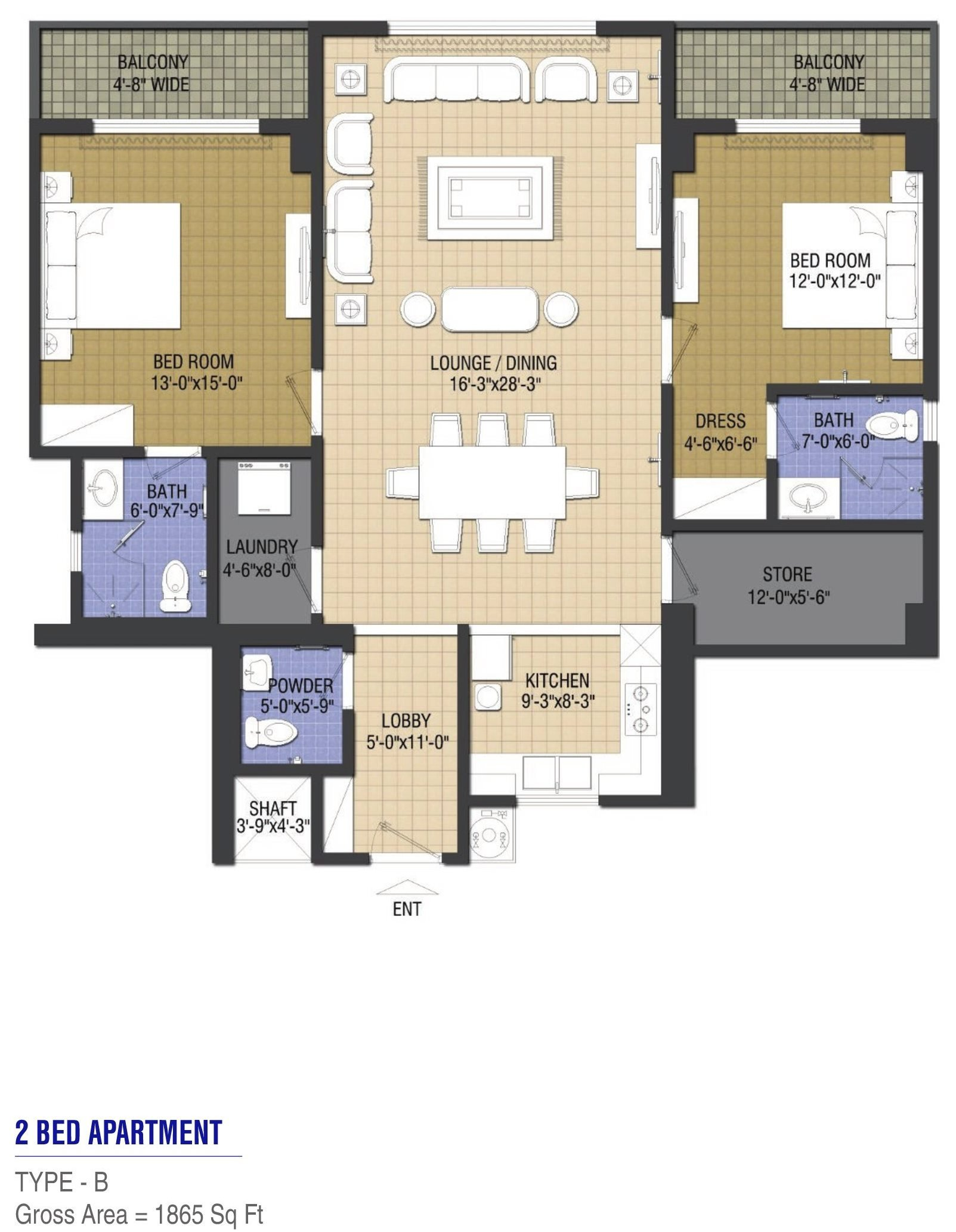 Goldcrest Chic 1 - 2 bed - Type B