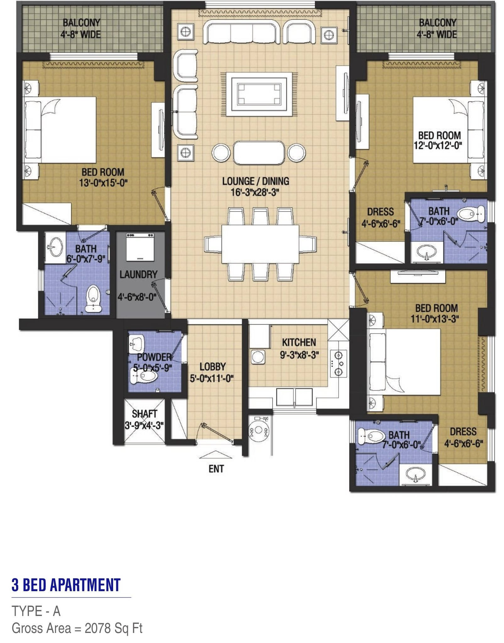 Goldcrest Chic 1 - 3 bed - Type A