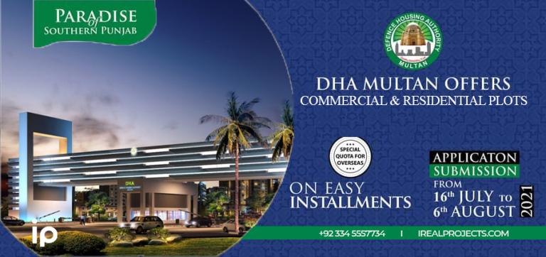 Plots on installments - DHA Multan