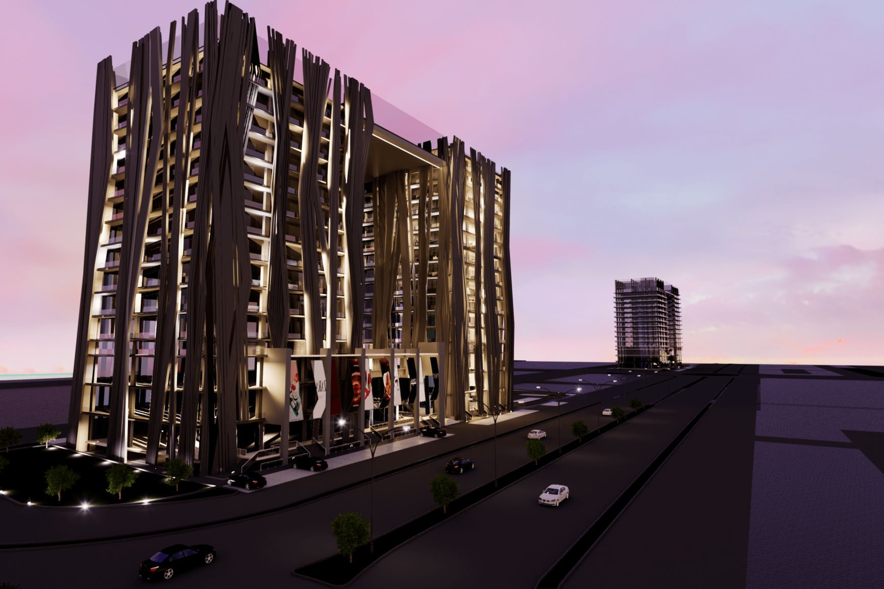 AJ Towers Night View - Commercial Shops on Installments in Gulberg