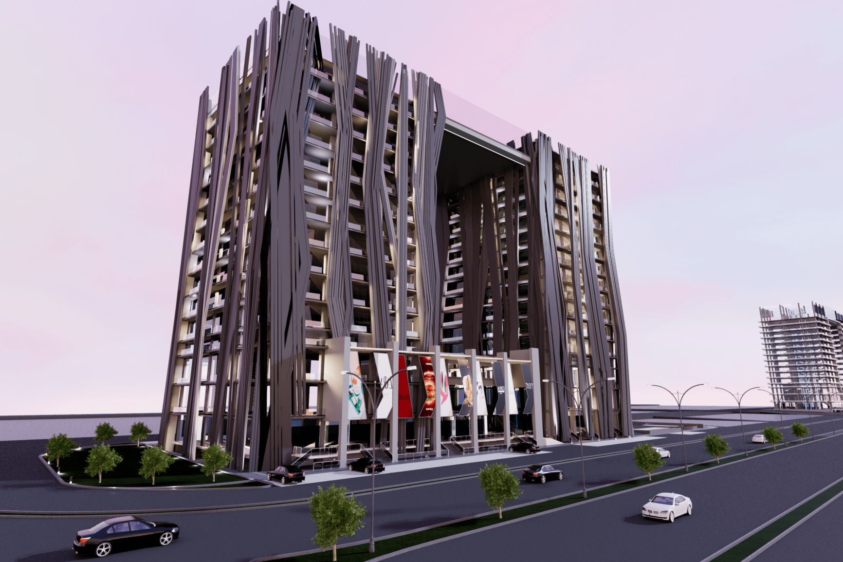 AJ Towers SideView- Commercial Shops on Installments in Gulberg Islamabad