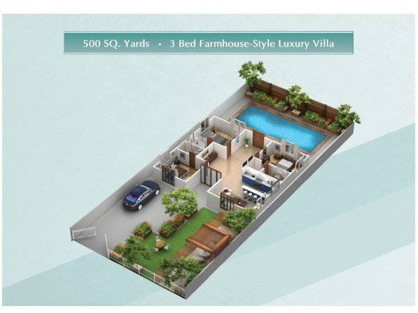 Floor-plan-of-500-sq-yards-3-bed-farmhouse-style-villa-The-Gardens-Residences