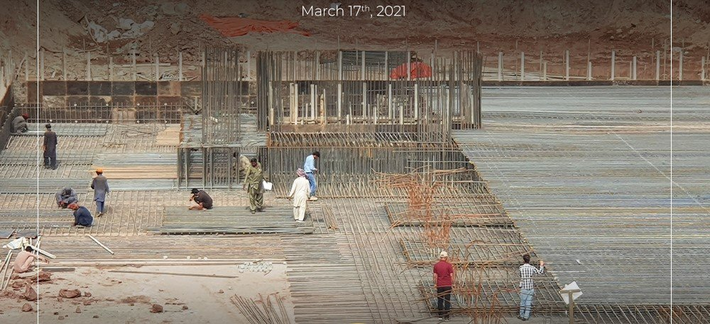 foundation laying - Prism Heights Gulberg construction update