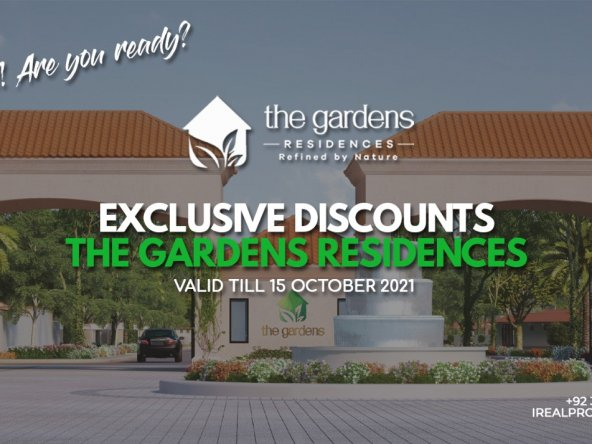 Special discount in The Gardens Residences Karachi